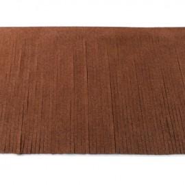 Suede fringe ribbon 12cm - cacao x 50cm