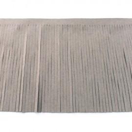 Suede fringe ribbon 12cm - grey x 50cm