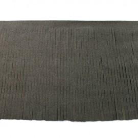 Suede fringe ribbon 12cm - dark grey x 50cm