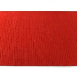 Suede fringe ribbon 12cm - red x 50cm