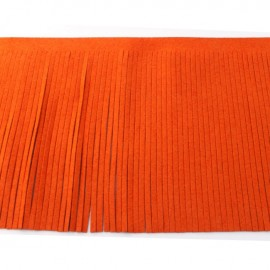Galon frange suédine 12cm - orange x 50cm