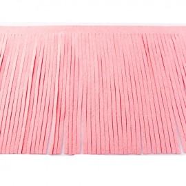 Suede fringe ribbon 12cm - pink x 50cm