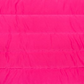 Plain nylon quilted lining fabric - fuchsia x 10cm