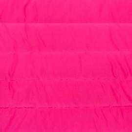 Tissu matelassé nylon doudoune uni - fuchsia x 10cm