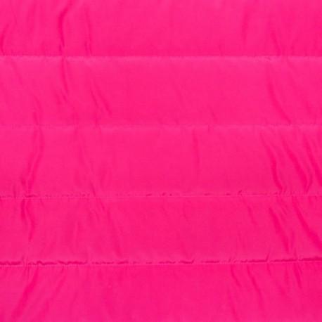 Plain nylon quilted lining fabric - fuchsia x 10cm