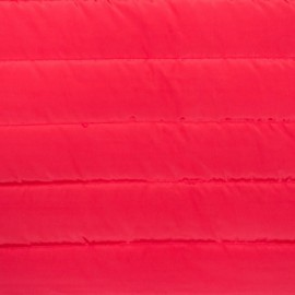 Plain nylon quilted lining fabric - red x 10cm