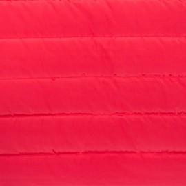 Tissu matelassé nylon doudoune uni - rouge x 10cm