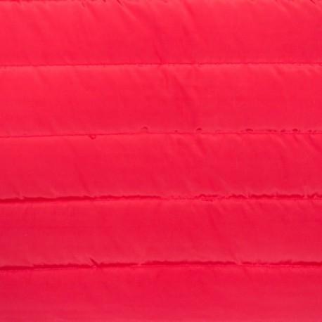 Tissu doublure matelassé nylon uni - rouge x 10cm