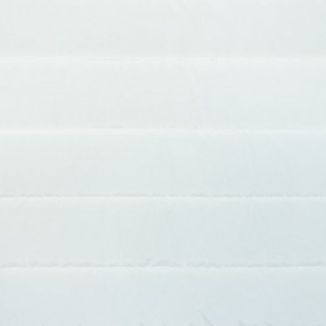 Plain nylon quilted lining fabric - off-white x 10cm