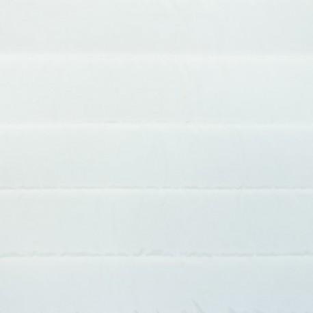 Tissu doublure matelassé nylon uni - blanc cassé x 10cm