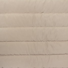Tissu matelassé nylon doudoune uni - taupe x 10cm