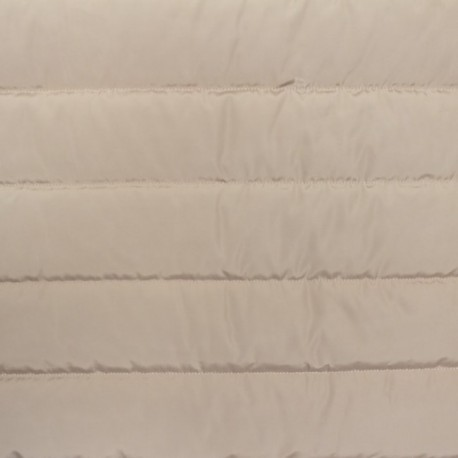 Plain nylon quilted lining fabric - taupe x 10cm