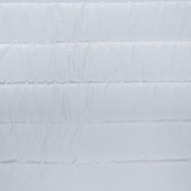 Tissu doublure matelassé nylon uni - gris clair x 10cm