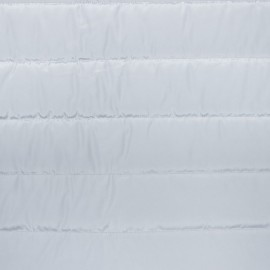 Tissu matelassé nylon doudoune uni - gris clair x 10cm
