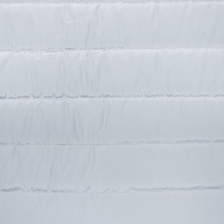 Plain nylon quilted lining fabric - light grey x 10cm
