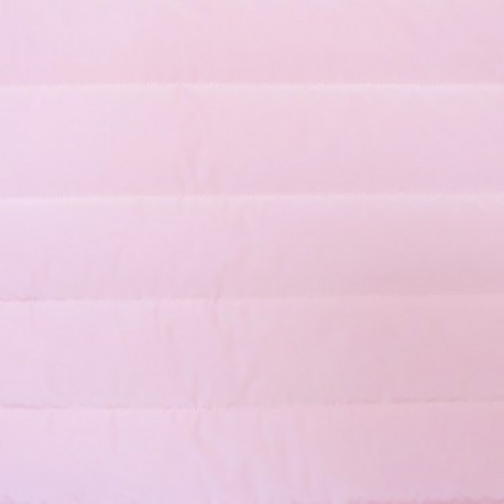 Plain nylon quilted lining fabric - pink x 10cm