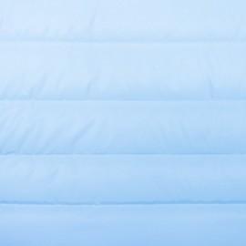 Tissu matelassé nylon doudoune uni - bleu clair x 10cm
