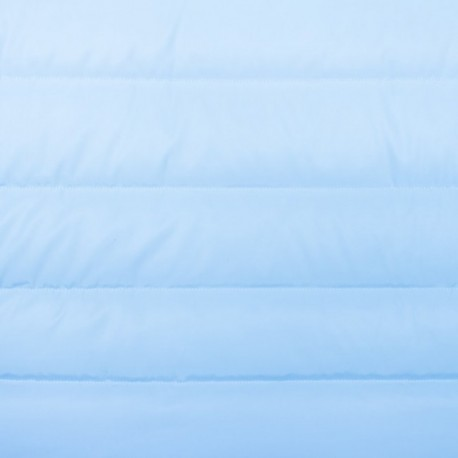 Plain nylon quilted lining fabric - light blue x 10cm