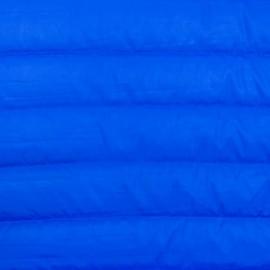 Tissu matelassé nylon doudoune uni - bleu cobalt x 10cm