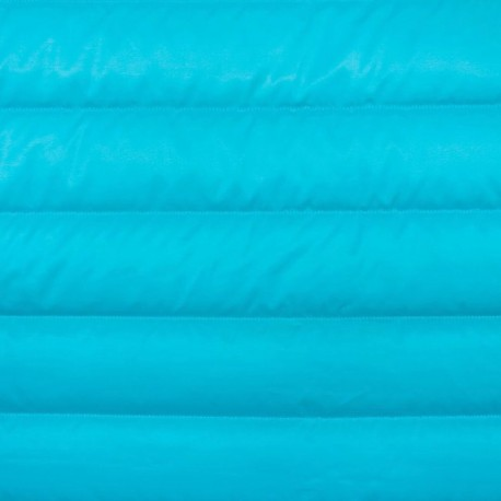 Plain nylon quilted lining fabric - frozen blue x 10cm