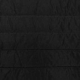 Plain nylon quilted lining fabric - black x 10cm