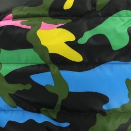 Tissu doublure matelassé nylon Army - multi x 10cm