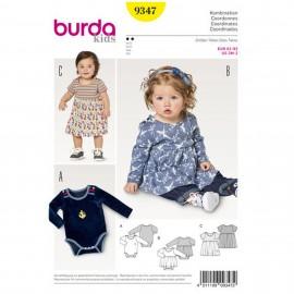 Dress with Bodysuit –  Bodysuit – Crotch Fastening  Burda Sewing Pattern N°9347
