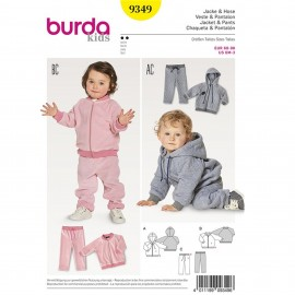 Patron Veste – blouson – capuche –pantalon – coulisse à élastique Burda Kids N°9349