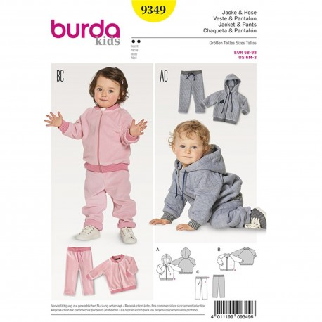 Jacket – Blouson – Hood – Trousers/Pants – Elastic Waist  Burda Sewing Pattern N°9349