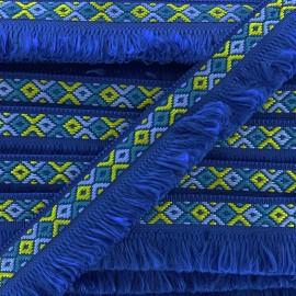 Ruban galon franges Ibiza 30mm - bleu marine x 1m