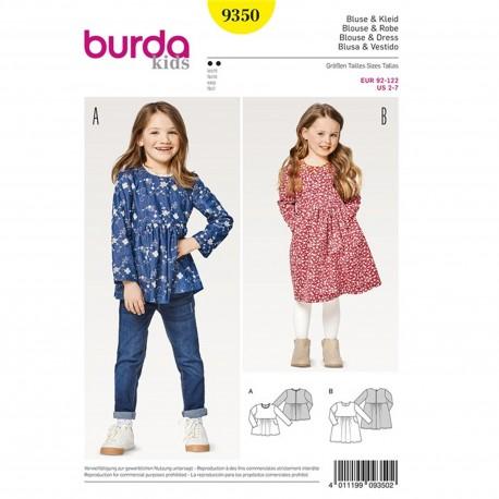 Dress Blouse – Dress – High Waist Burda Sewing Pattern N°9350