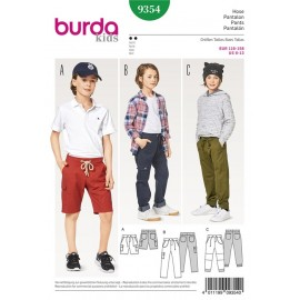 Trousers/Pants – Shorts –  Elastic Waist – Hip Yoke Pockets  Burda Sewing Pattern N°9354