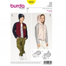Jacket – Blouson – Hood –  Hem Band  Burda Sewing Pattern N°9355