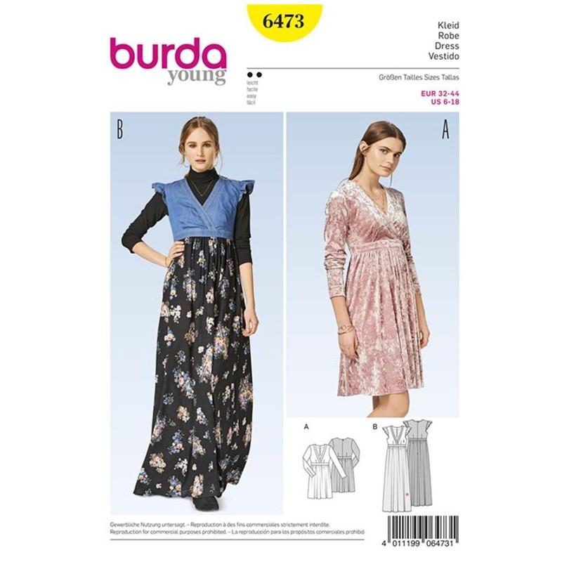 Dress Burda Young Sewing Pattern N°6473 - Ma Petite Mercerie