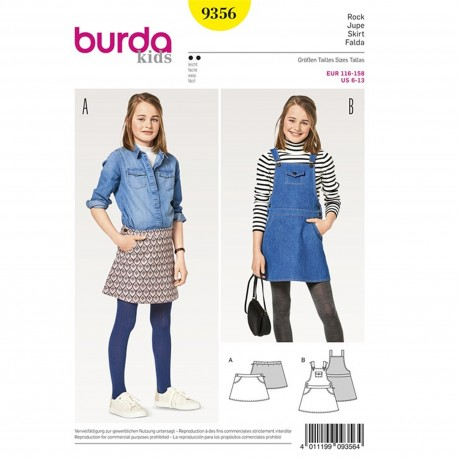 Patron Jupe Burda N°9356