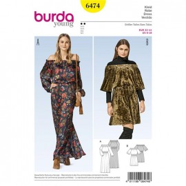 Patron Robe Burda Young N°6473