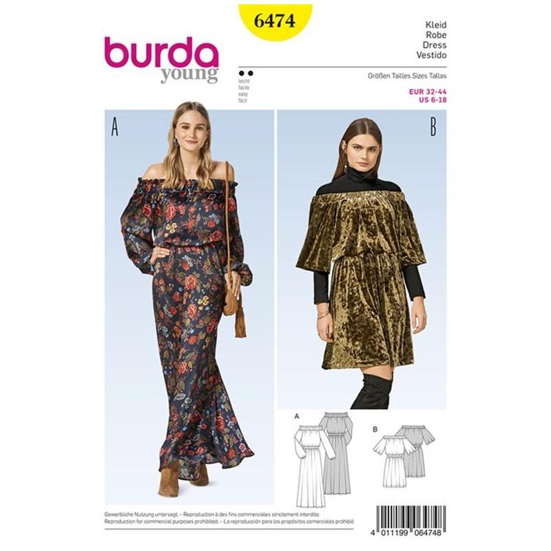 Dress Burda Young Sewing Pattern N°6474 - Ma Petite Mercerie