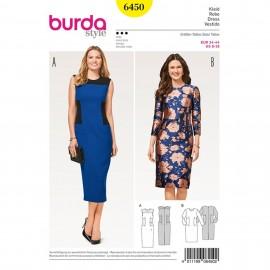 Dress with Insert – Sheath  Burda Sewing Pattern N°6450