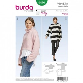 Patron Pull et Tunique Burda Young N°6476