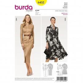 Dress – Narrow Skirt – Bell-shaped Skirt – Vent – Zip Fastening Burda Sewing Pattern N°6452