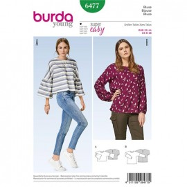Patron Blouse Burda Young N°6477