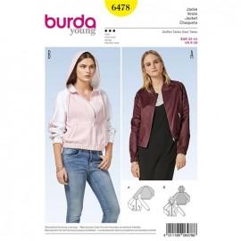 Patron Femme Veste Burda Young N°6478