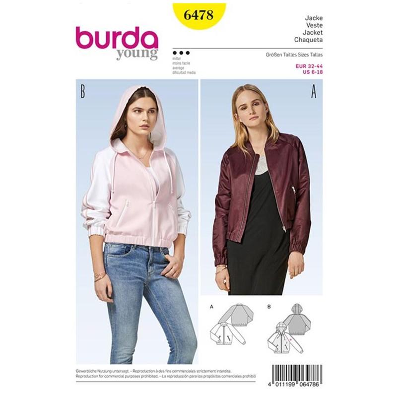 Jacket Burda Young Sewing Pattern N°6478 - Ma Petite Mercerie