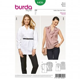 Blouse – Shoulder Yoke – Stand Collar – Flounces Burda Sewing Pattern N°6456