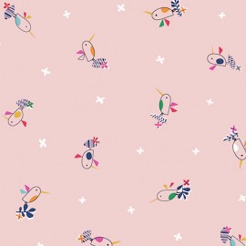 Dashwood cotton fabric Club Tropicana - Baby birds x 10cm