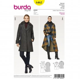 Coat – Short Coat – Detachable Collar – Fur Collar Burda Sewing Pattern N°6462