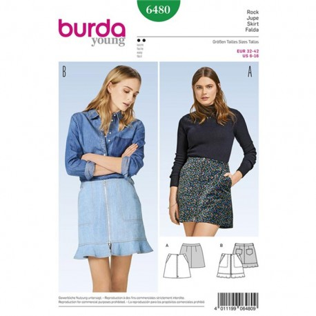 Skirt Burda Young Sewing Pattern N°6480