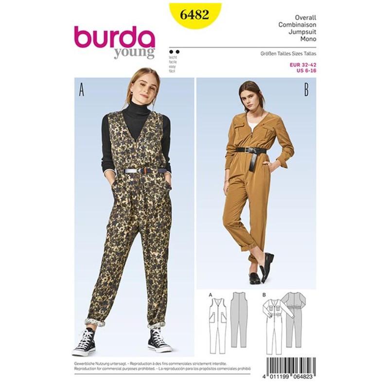 Overall Burda Young Sewing Pattern N°6482 - Ma Petite Mercerie