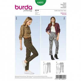 Pants Burda Young Sewing Pattern N°6481