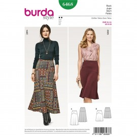 Skirt with Elastic Waist – Flared – Shaped Yoke Burda Sewing Pattern N°6468